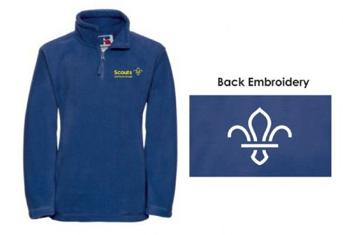 3rd North Weald Scouts 1/4 Zip Fleece SENIOR